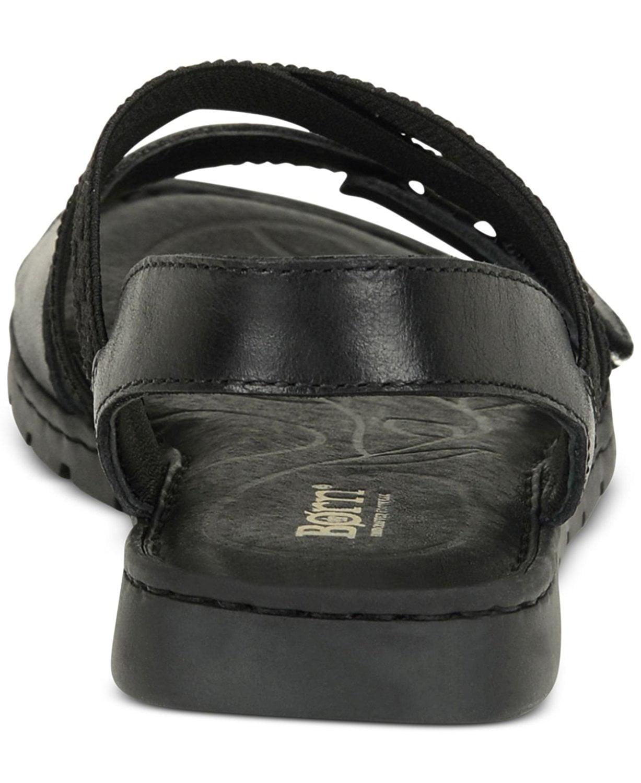 8c0e1ee235ca Born - Born Womens Britton Leather Open Toe Casual Slide Sandals -  Walmart.com
