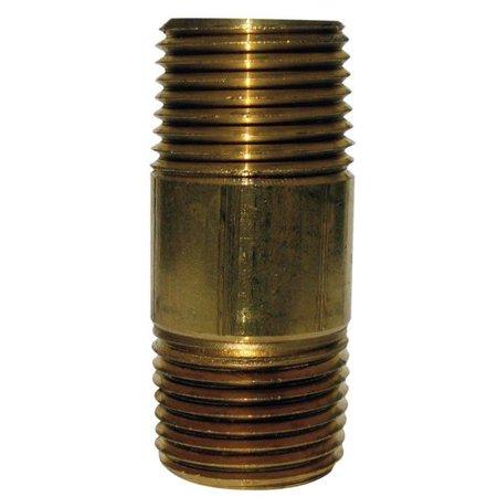 JMF 49058 4 in. 1,5 MPT - MPT 1,5 in. Dia. Mamelon de tuyau en laiton - image 1 de 1