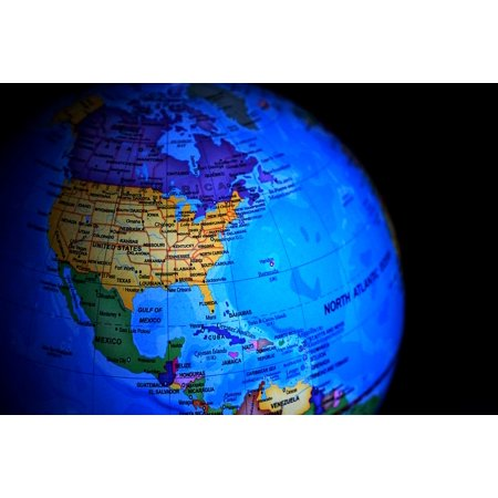 Map Of North America After Planet X.Laminated Poster Maps North America Globe Earth World Map Poster Print 24 X 36