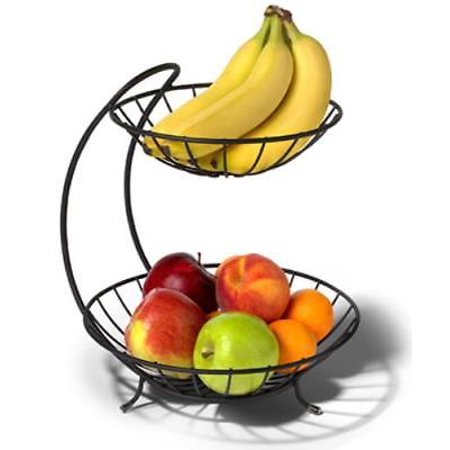 Yumi Black 2 Tier Fruit Server Displays Your Fruit Made Of Sturdy Stee Only One - Fruit Platters Walmart
