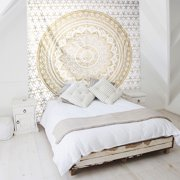 "Wall Tapestry, EEEKit 90x84"" Mandala Tapestry Wall Hanging Decor Hippie Bohemian Beach Towel Couch Picnic Blanket for  Living Room Bedroom Dorm Room"