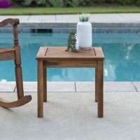 Manor Park Outdoor Wood Patio Side Table, Multiple Colors