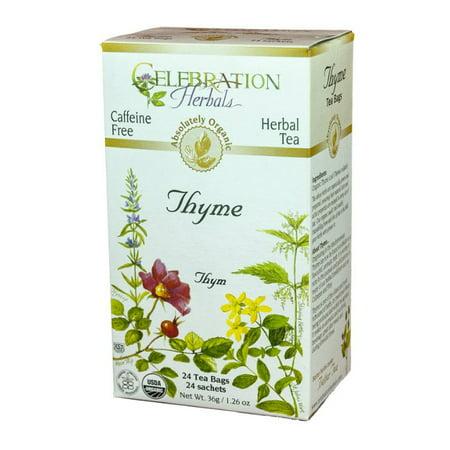 Celebration Herbals Thym Leaf Tea Bio, 24 Ct