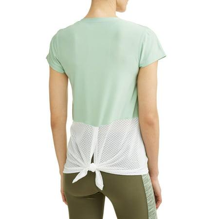Women's Active V-Neck Short Sleeve Tie Back Performance T-Shirt
