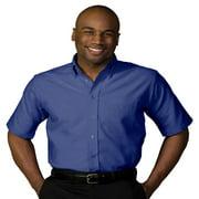 Ed Garments Men's Big And Tall Short Sleeve Oxford Shirt, YELLOW, XXX-Large