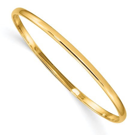 14kt Yellow Gold Slip On 5.5 Baby Bangle Bracelet Cuff Expandable Stackable Inch Fine Jewelry Ideal Gifts For Women Gift Set From (Gold Omega Cuff)