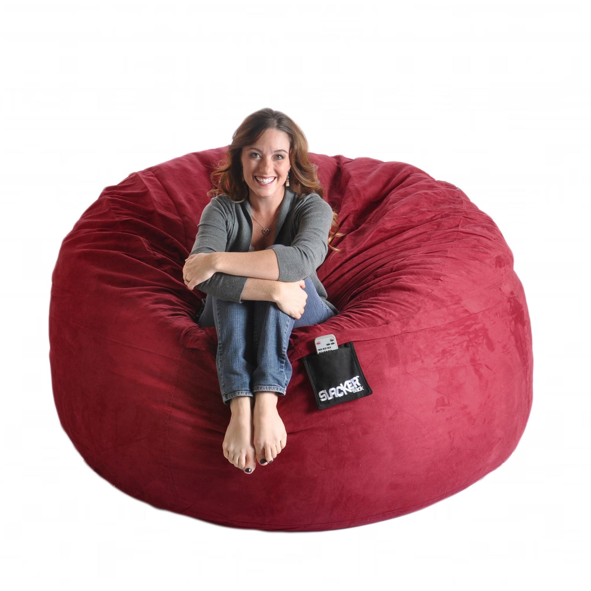 Slacker Sack Cinnabar Red 6-foot Microfiber and Foam Bean Bag