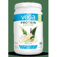 Vega Plant Protein & Greens Powder, Vanilla, 20g Protein, 1.4lb, 21.7oz