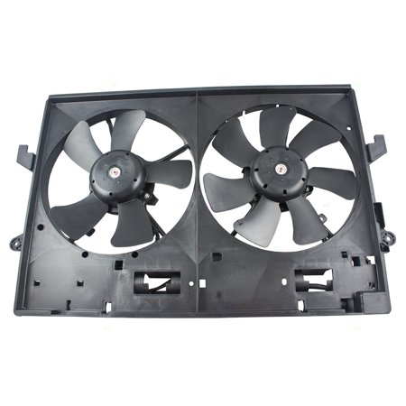 Replacement Mazda Fan Shroud - Dual Cooling A/C AC Fan Motor Shroud Assembly for Mazda MPV Van GY01-15-025E MA3115125