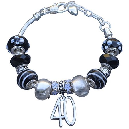 40th Birthday Gifts for Women, 40th Birthday Charm Bracelet, 40th Birthday Ideas, Gift for - Bracelet Ideas