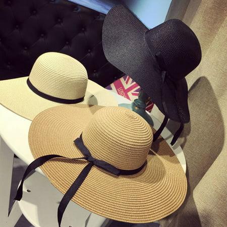 52b3f635e Meigar Sun Hats For Women Wide Large Brim Floppy Lady Straw Hat