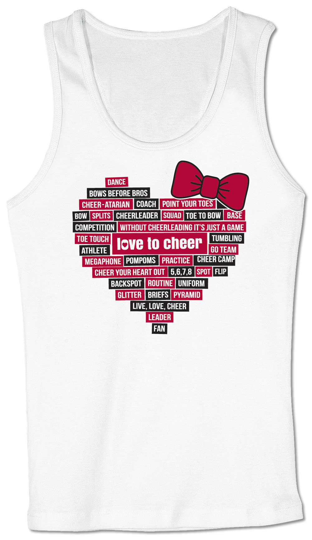 5abe9a6c7362 Chass   - Love To Cheer Tank - Walmart.com