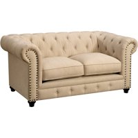 Nyssa Traditional Tufted Tuxedo Loveseat, Multiple Colors