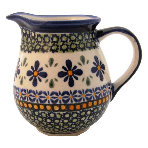Euroquest Imports Polish Pottery 14 oz Pitcher - Pattern DU60