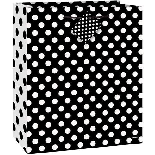 Black Polka Dot Gift Bag