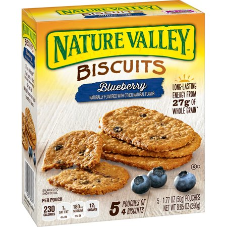 Nature Valley Biscuits Blueberry, 5 Pouches, 8.85 oz