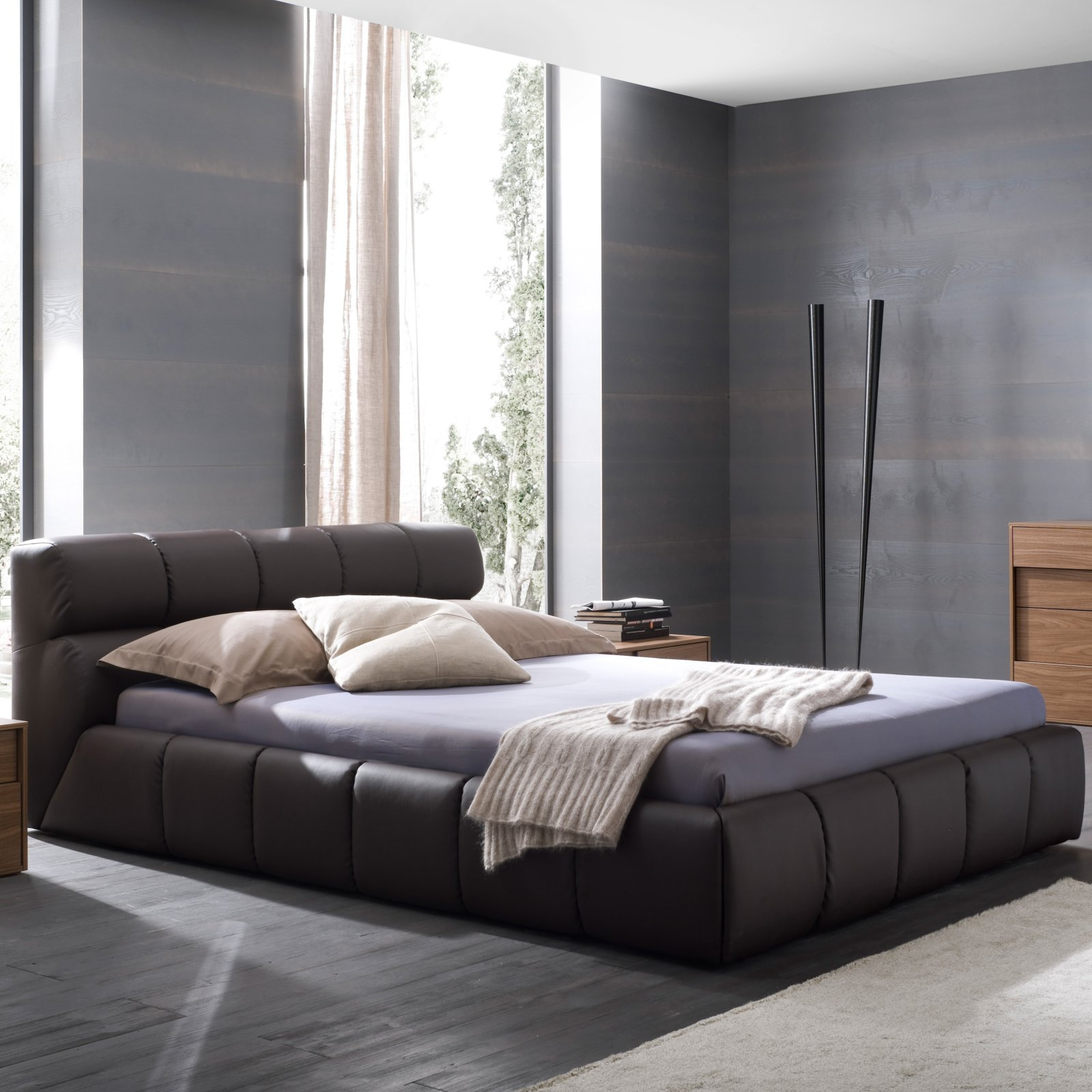 Rossetto Cloud Platform Bed - Brown