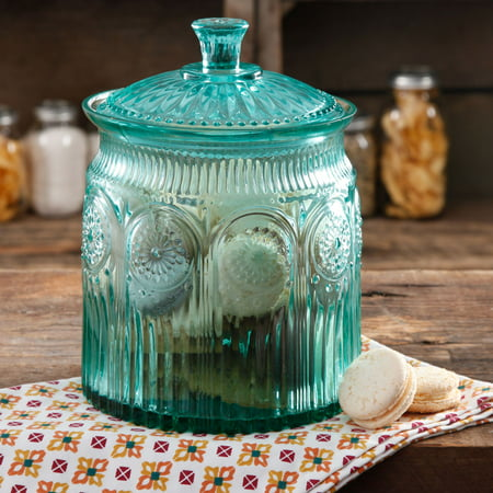The Pioneer Woman Adeline Cookie Jar Turquoise, 1.0 CT
