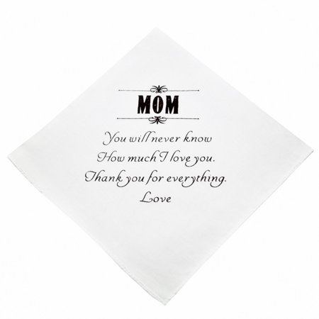 Mom of the Bride Handkerchief - Wedding - Mother Hankie