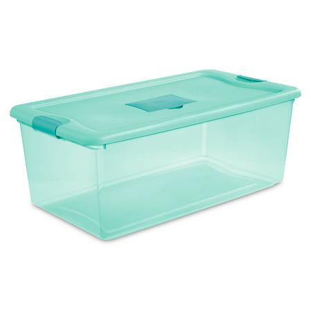 Sterilite, 106 Qt./100 L Fresh Scent Box, Aqua Tint