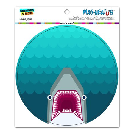 Geometric Shark Blue - Circle MAG-NEATO'S(TM) Car/Refrigerator -