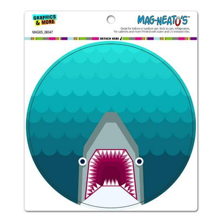 Shark Magnet (Geometric Shark Blue - Circle MAG-NEATO'S(TM) Car/Refrigerator Magnet)