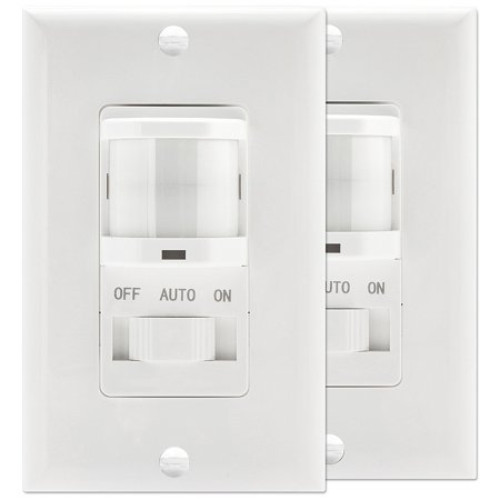 TOPGREENER TSOS5-W PIR Motion Sensor Light Switch, Fluorescent Incandescent 500W NEUTRAL WIRE REQUIRED