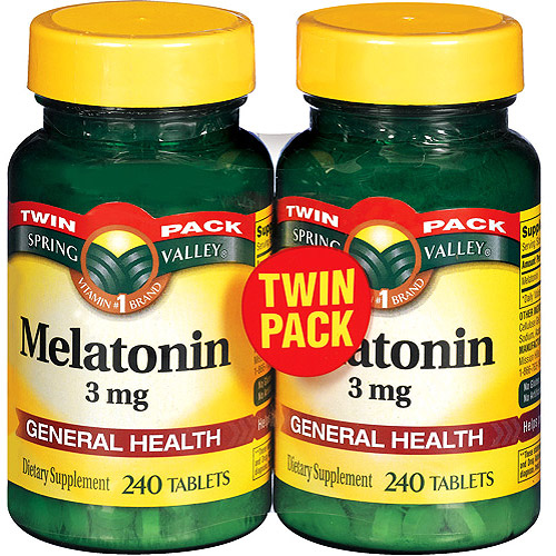 Spring Valley: Melatonin 3 Mg Twin Pack Tablets Dietary Supplement, 240 ct