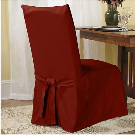 - Sure Fit Cotton Duck Dining Chair Slipcover