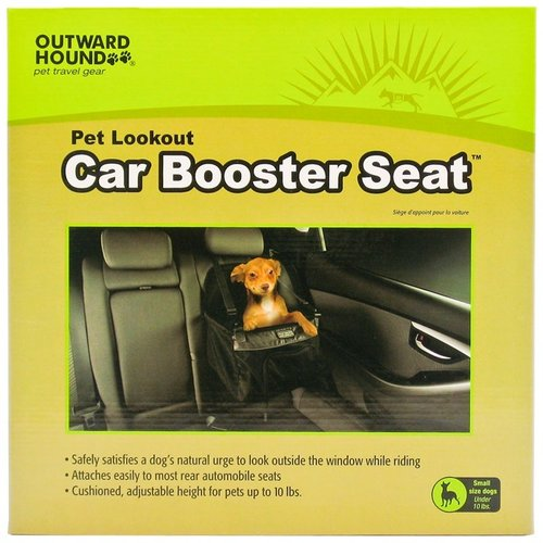 Outward Hound Pet Lookout Car Booster Seat - Black / Gray