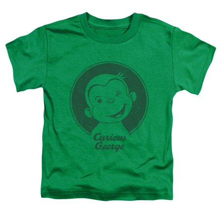 Trevco CURIOUS GEORGE CLASSIC WINK Kelly Green Child Unisex T-Shirt