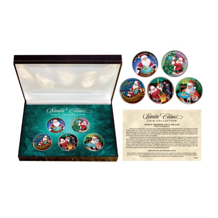 American Coin Treasures Santa Claus JFK Half Dollar Coin Box Set - Multi - 6
