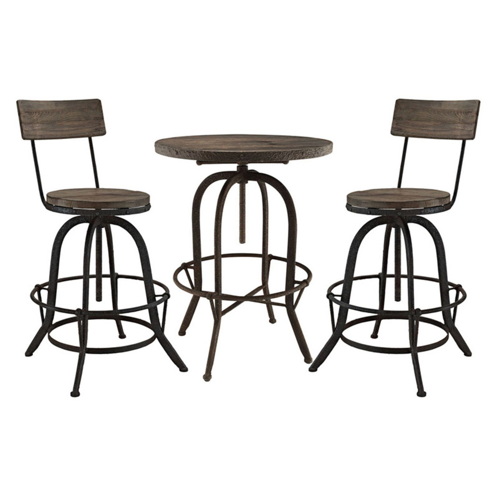 Modway Gather 3 Piece Pub Table Set