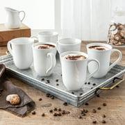 Better Homes & Gardens Porcelain Carnably Scalloped Mug, Set of 6