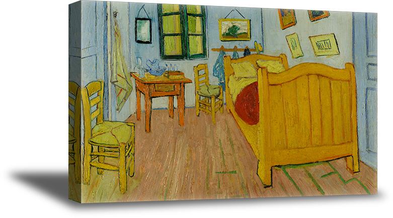 Vincent Van Gogh Canvas Art Prints Bedroom In Arles Painting Van Gogh Fans Gifts Jolash Pl,Kitchen Garden Window Shelf