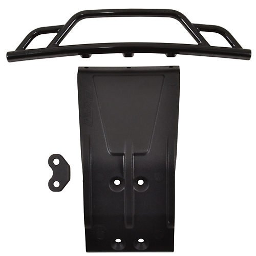 Front Bumper and Skid Plate, Black: Losi SCTE Multi-Colored