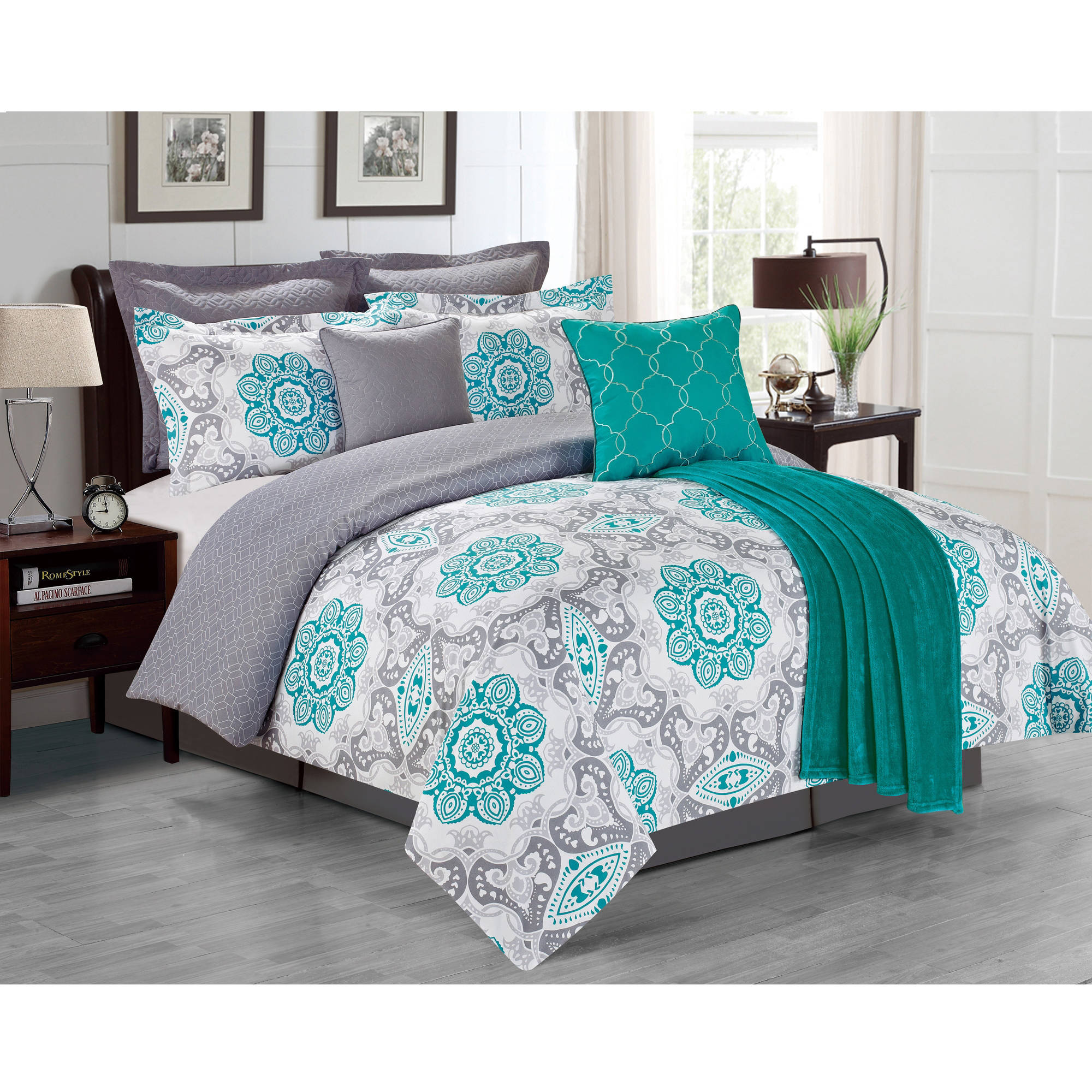 ideas set bedding sets and aqua grey teal lostcoastshuttle design of color option image creative comforter