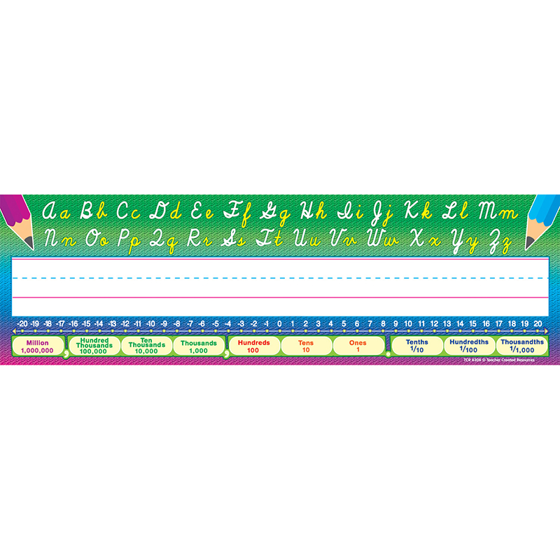 CURSIVE WRITING 36PK FLAT NAME PLATES 3-1/2 X 11-1/2