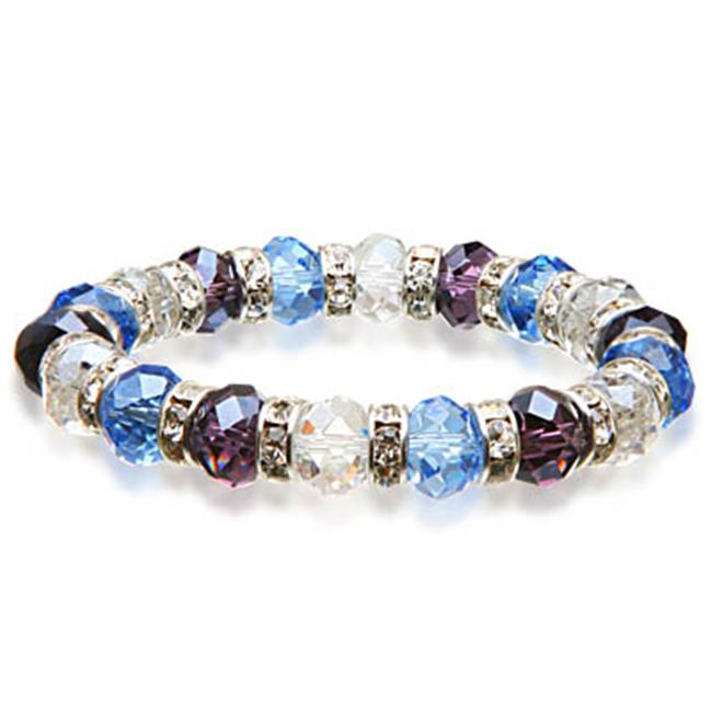 Alexander Kalifano BLUE-BGG-09 Gorgeous Glass Bracelet - Multi-Colored