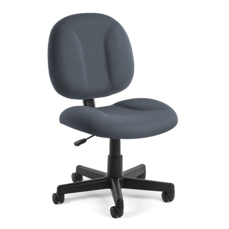 OFM Comfort Series Model 105 Armless Task Office Chair, Gray