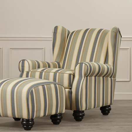 darby home co brougham wingback chair and ottoman walmart com