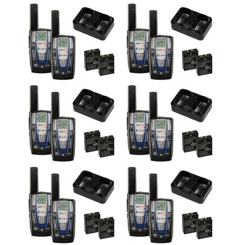 6 PAIR COBRA CXR825 30 Mile 22 Channel FRS/GMRS Walkie Talkie 2-Way Radios