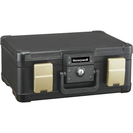 Honeywell 0.24 cu. ft. Waterproof 30-Minute Fire Chest with Key Lock, 1103