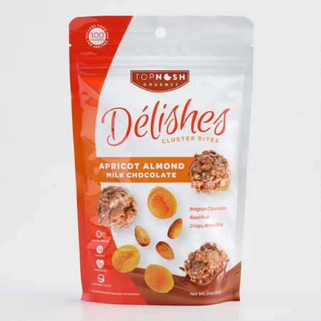 Delishes Apricot Almond Milk Chocolate Cluster Bites 3 oz. (Pack of 1)