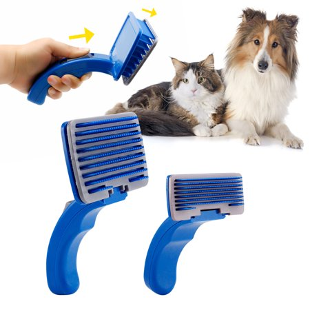 Pet Dog Cat Grooming Self Cleaning Slicker Professional Brush Comb Hair Fur Shedding Tool