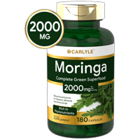 Moringa Oleifera 2000 mg 180 Capsules | Non-GMO,Gluten Free | From Moringa Leaf Powder | by Carlyle
