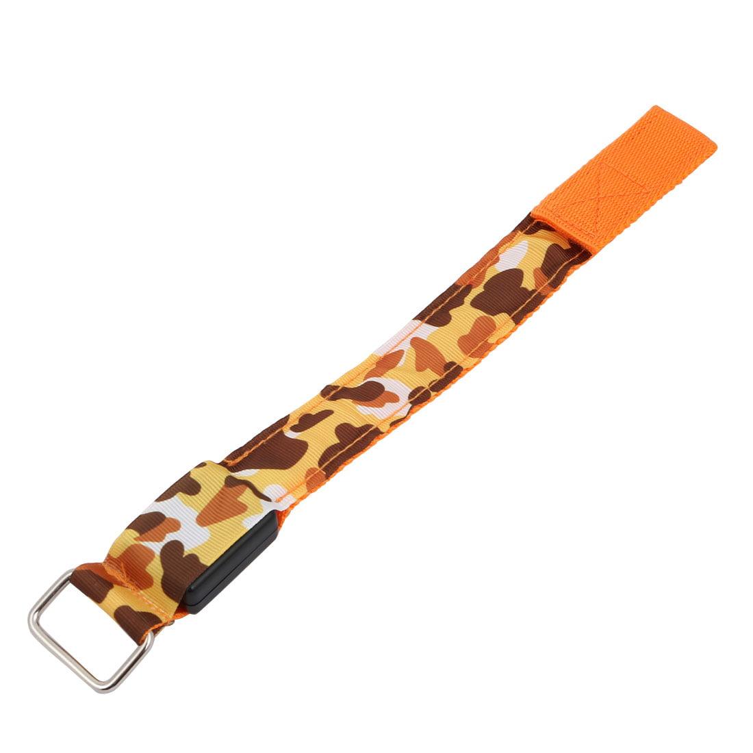 Running Safety Orange LED Camouflage Print Arm Band Wristband Light Up Armband - image 3 of 4