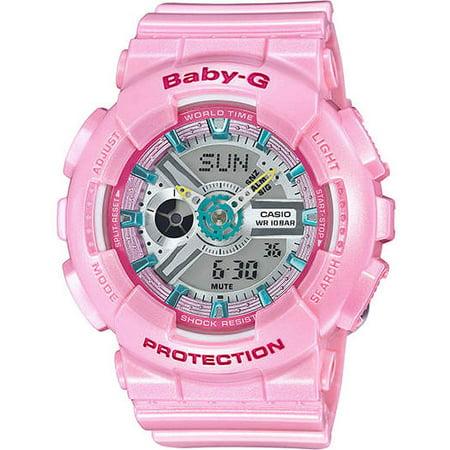 57dd85af11aa Casio - Casio Women s Baby-G Shock Pink Resin Ana-Digi Watch BA110CA4ACR -  Walmart.com