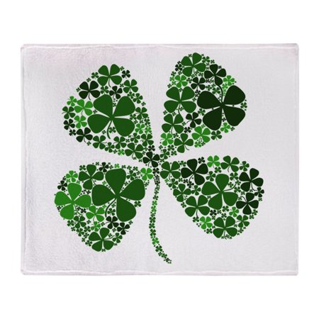 - CafePress - Lucky 4 Leaf Clover Irish - Soft Fleece Throw Blanket, 50