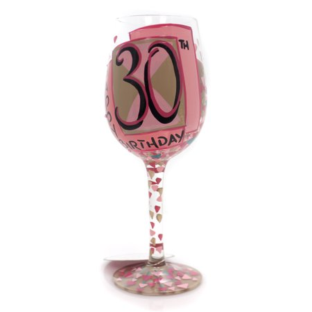 Tabletop VERY FLIRTY THIRTY LOLITA WINE Glass Hand Painted 6000736](Halloween Painted Wine Glasses)